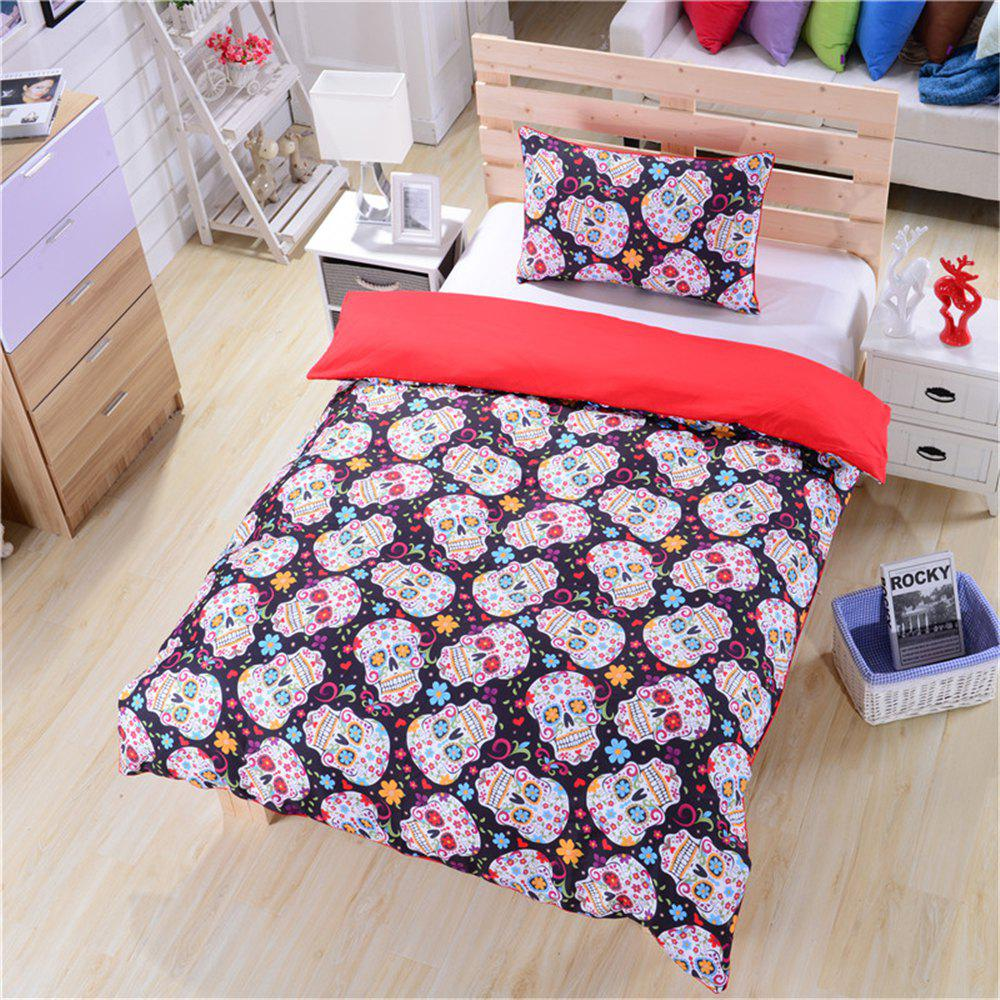 New New Sugar Skull Bedding 3pcs Duvet Cover Set Digital Print