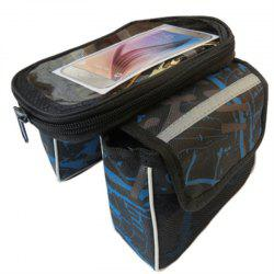 Bicycle Handlebar Bags Front Shelf Storage Saddle with Touch Screen Phone Case -