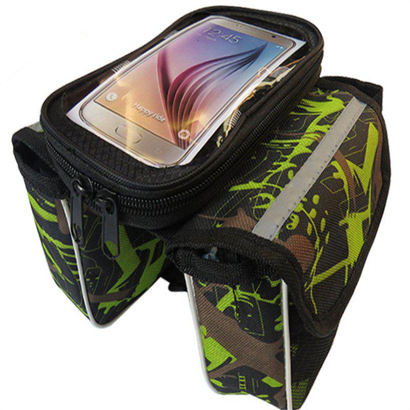 Fancy Bicycle Handlebar Bags Front Shelf Storage Saddle with Touch Screen Phone Case