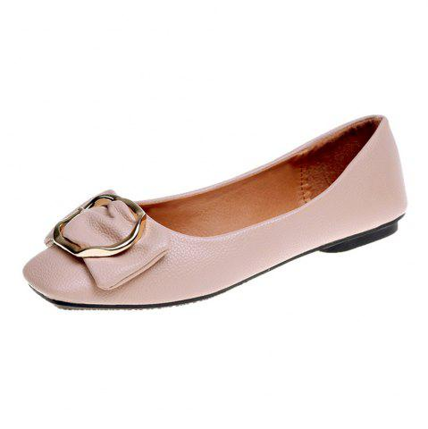 Store Flat Round Head Shallow Mouth Soft Leather Fashion Show Thin Women's  Shoes