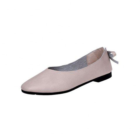 Chic Square Head Shallow Mouth Low Heel Flat  Match Women's Shoes