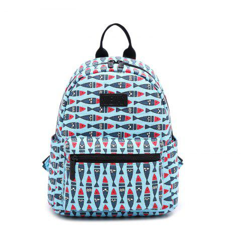 Chic Women'S Backpack Casual Preppy Large Capacity Animal Pattern Trendy Travelling