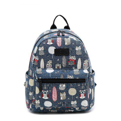 New Women'S Backpack Color Block Animals Pattern Casual Preppy Large Capacity Stylish
