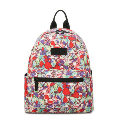 Buy Women'S Backpack Sweet Flowers Pattern Casual Preppy Large Capacity Stylish All