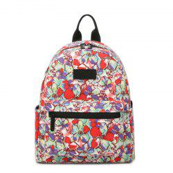 Women'S Backpack Sweet Flowers Pattern Casual Preppy Large Capacity Stylish All -