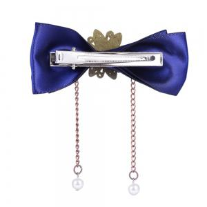European and American Trade Accessories Steampunk Fabric Bow Gear Duckbill Clips -