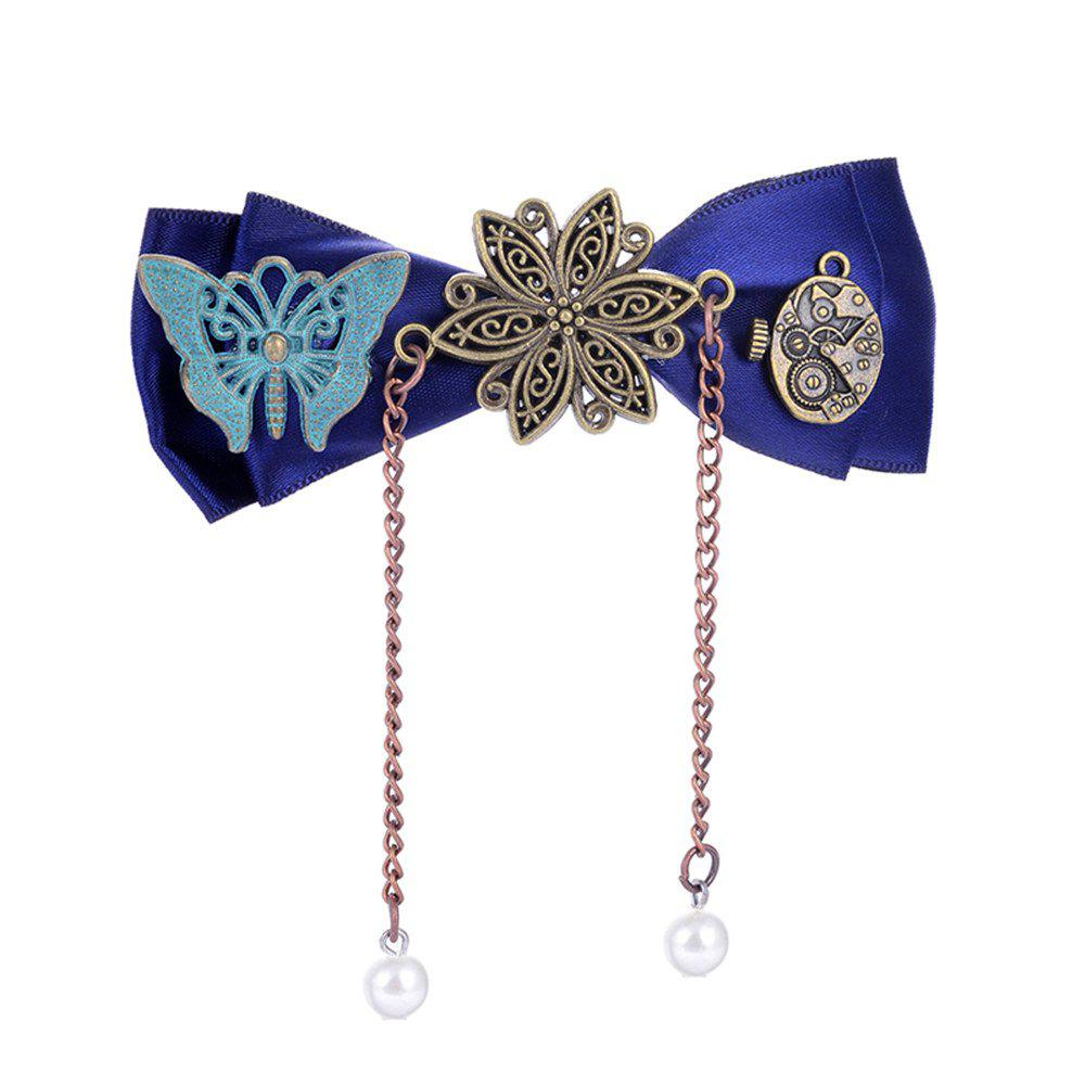 Chic European and American Trade Accessories Steampunk Fabric Bow Gear Duckbill Clips