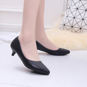 Black Pointy Heels Chaussures pour femmes -