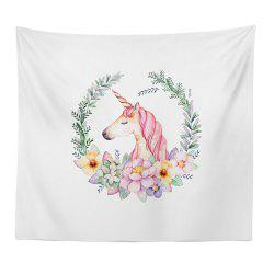 Hand-Painted High Definition Cartoon Unicorn Wall Tapestry Hanging Artist Living -