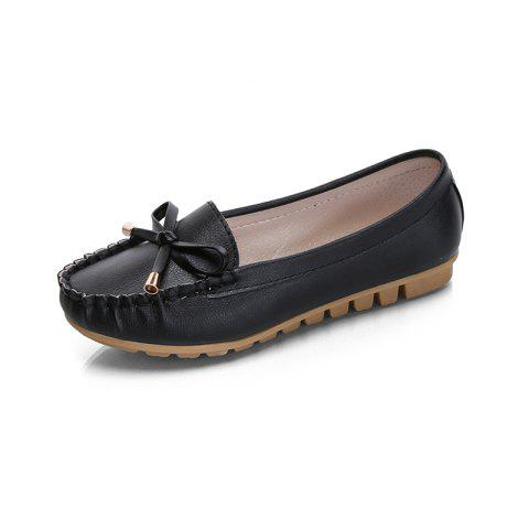 Butterfly Peas Shallow Mouth Shoes - Black - 40