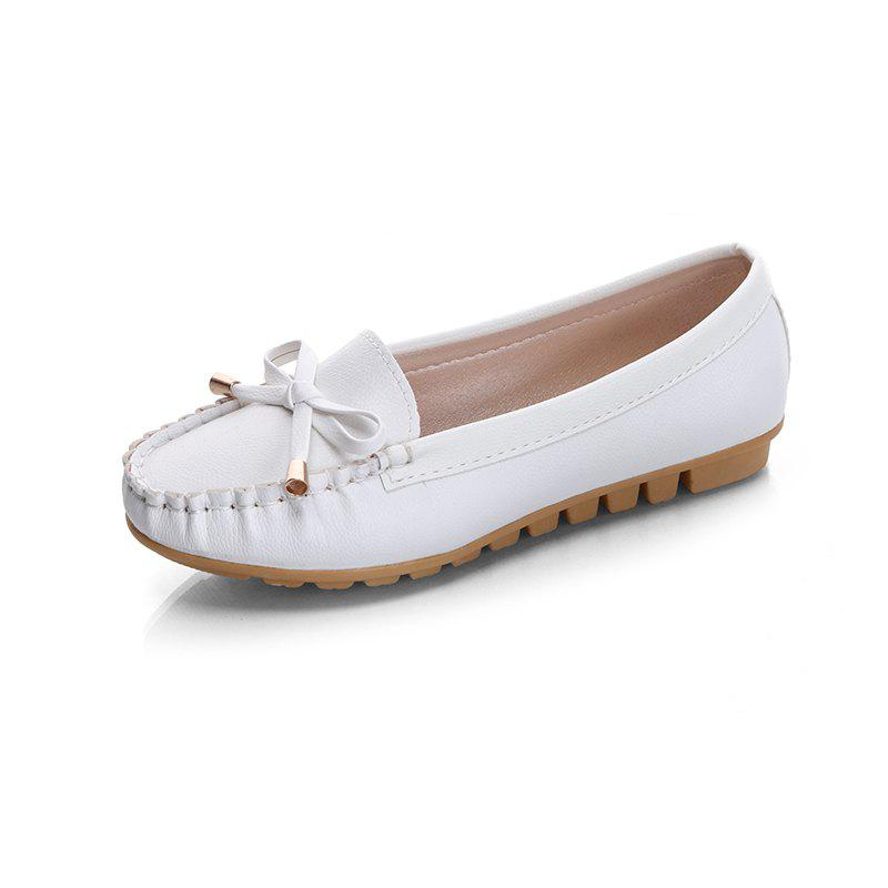 Cheap Butterfly Peas Shallow Mouth Shoes