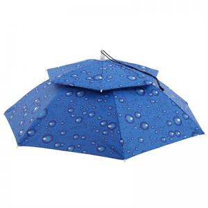 Outdoor Large Double Layer Fishing Umbrella Hat Camping Beach Sunshade Cap -