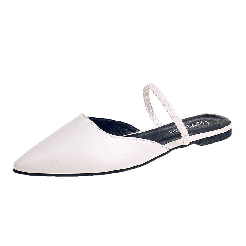 Sale Baotou Fashion Flat Top Half Slippers