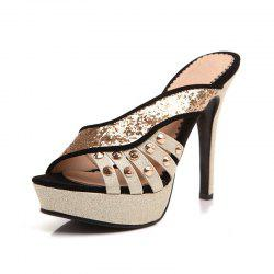 Rivet Sexy Banquet Super Heel Slippers -