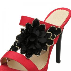 Sexy Super Heel Slippers Flower -