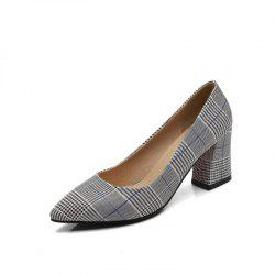 Lattices Leisure High Heel Simple Single Shoes -