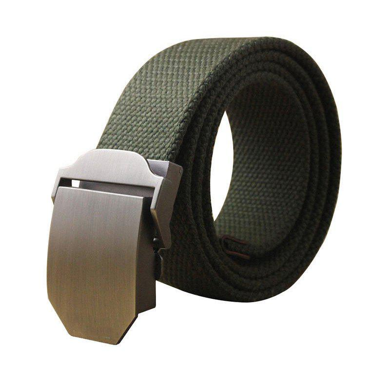 Chic Hot Male Tactical Belt Top Quality Casual Canvas Outdoor Automatic Buckle