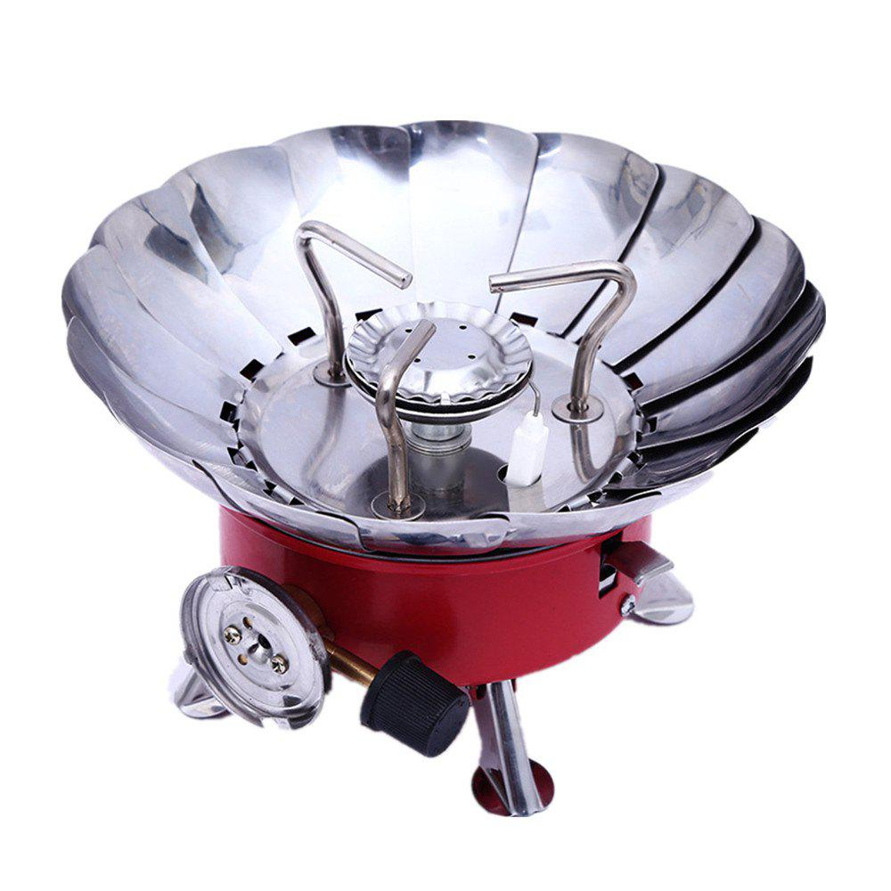 Store Outdoor Air Proof Creative Lotus Picnic Camp Stove
