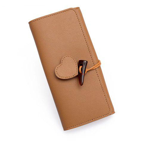 Store Long Fashion Horn Buckle Wallet