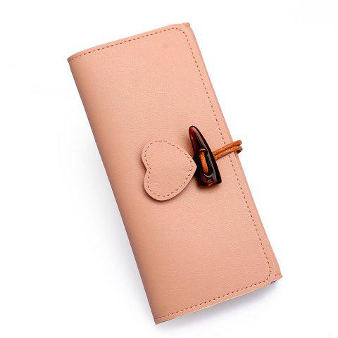 Online Long Fashion Horn Buckle Wallet