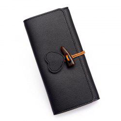 Long Fashion Horn Buckle Wallet -