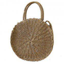 Straw Handbag Casual Beach Woven Shoulder Messenger Bag -