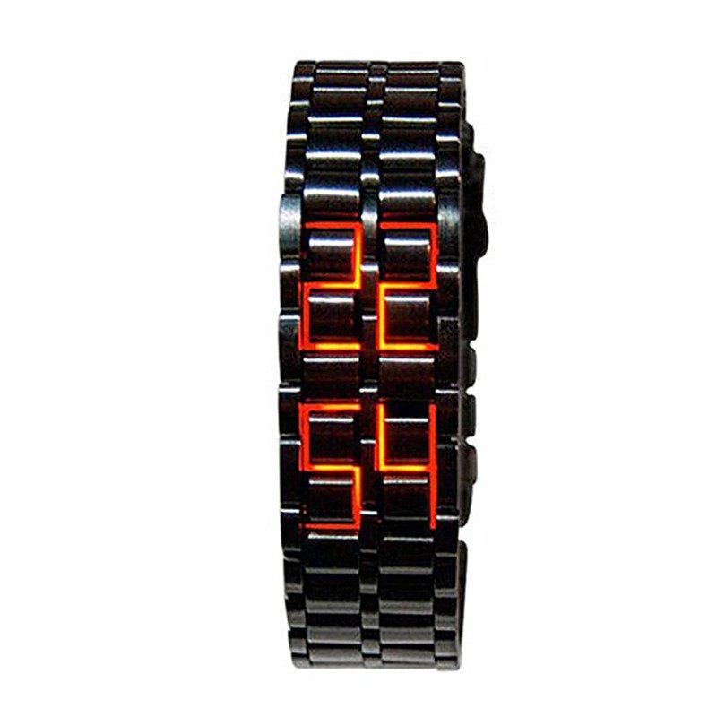 Outfits Stainless Steel Men Digital Watches