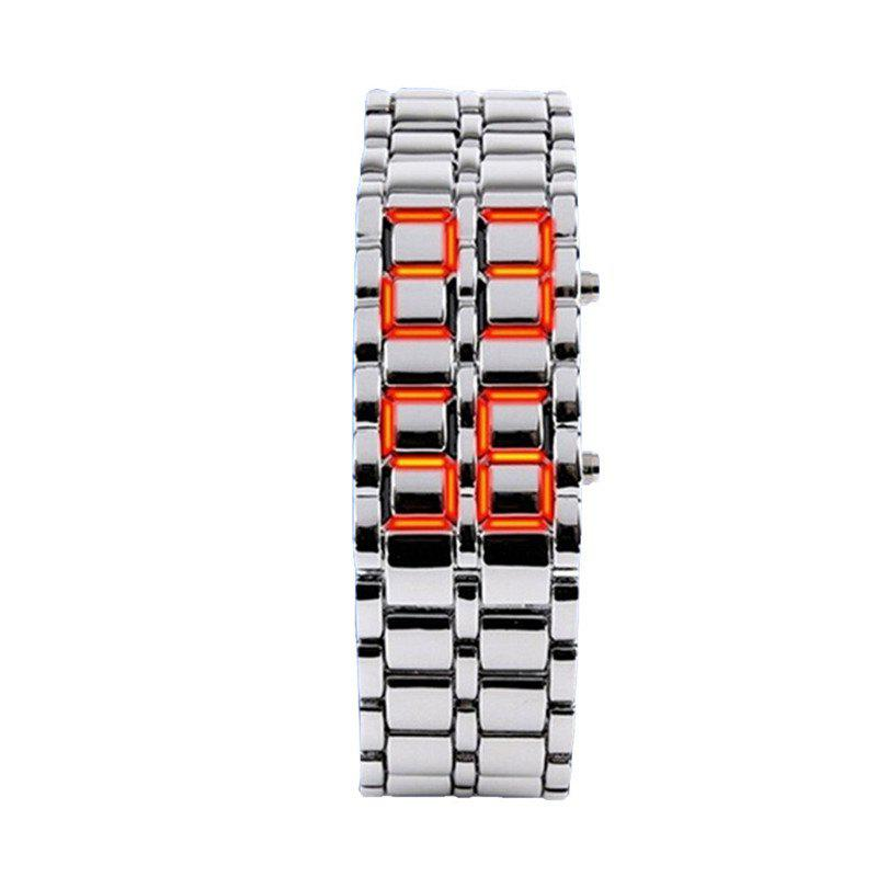 Chic Stainless Steel Men Digital Watches
