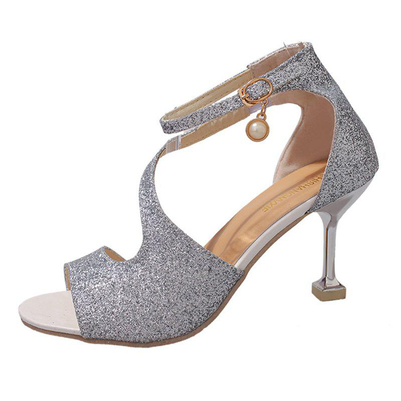 Fashion Women Fashion Frosted Pumps Shoes Ankle Strap Sandals
