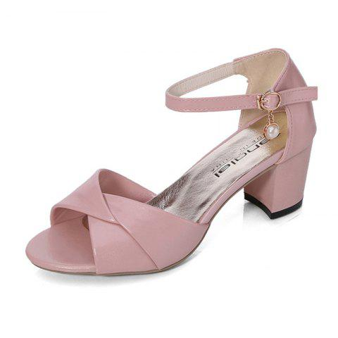 Latest Summer Sandals with Thick Heels Fish Mouth Head Shoes for Women