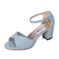 Summer Sandals with Thick Heels Fish Mouth Head Shoes for Women -