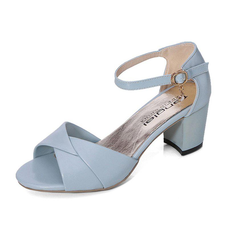 Fancy Summer Sandals with Thick Heels Fish Mouth Head Shoes for Women
