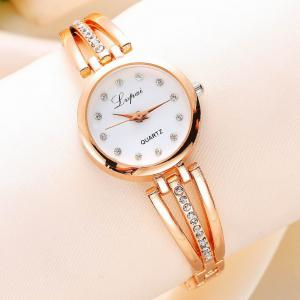Lvpai P173 Women Alloy Quartz Wrist Watch with Rhinestones -