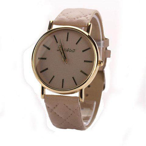 Shop Geneva XR781 Women Men Analog Quartz Leather Wrist Watch