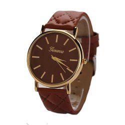 Geneva XR781 Women Men Analog Quartz Leather Wrist Watch -