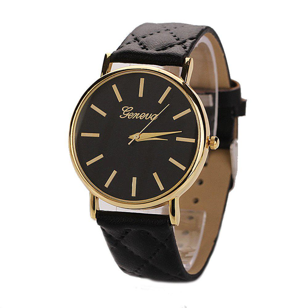 Latest Geneva XR781 Women Men Analog Quartz Leather Wrist Watch