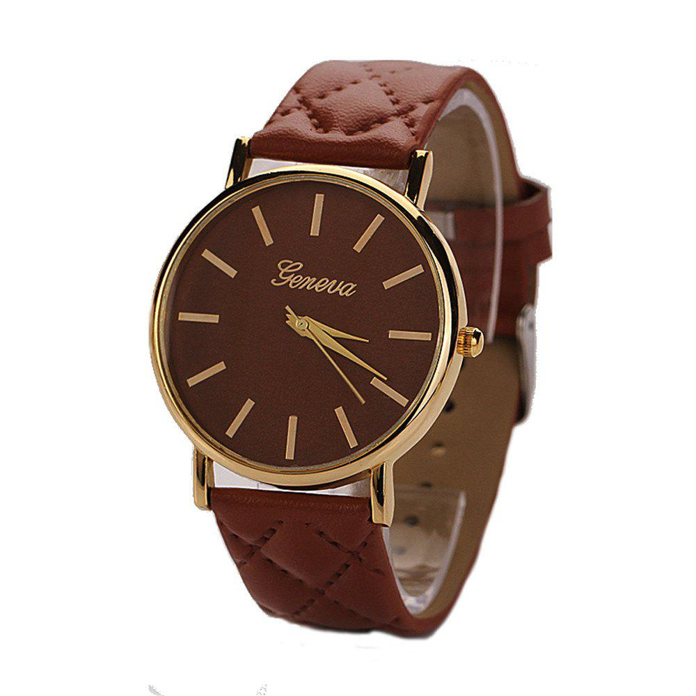 New Geneva XR781 Women Men Analog Quartz Leather Wrist Watch