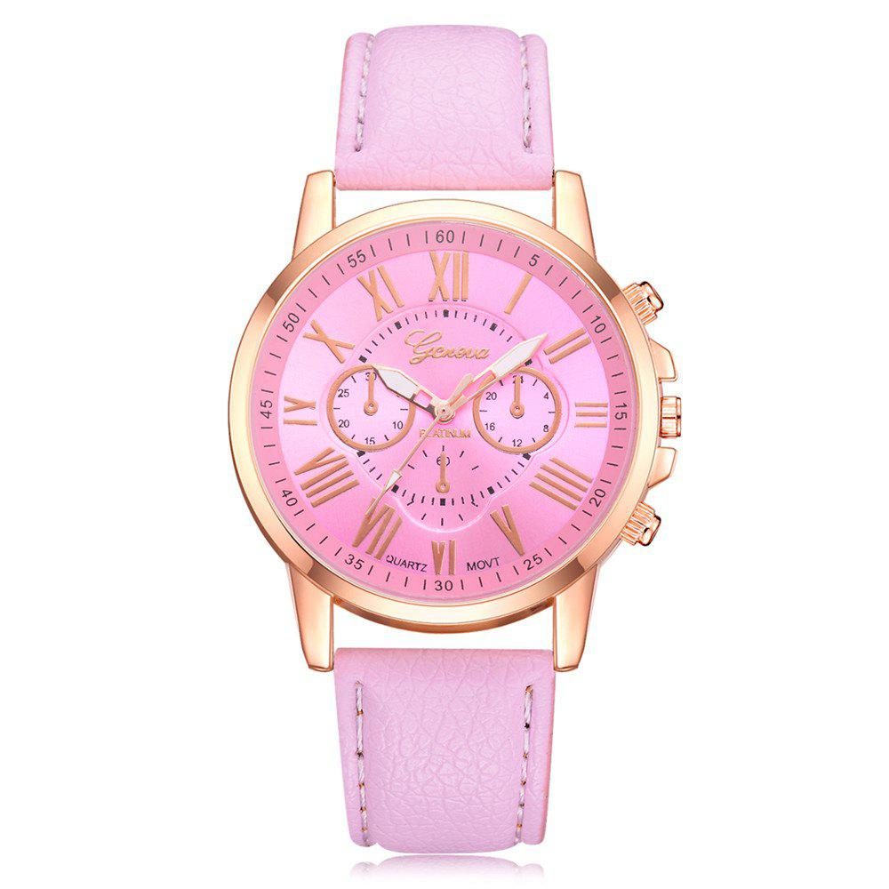 Shops Geneva XR740 Women Simple Analog Quartz PU Leather Wrist Watch