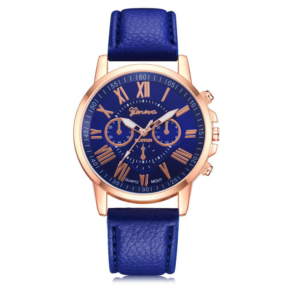 blue croc watches dial classic white band leather products index gents trouvaille black watch