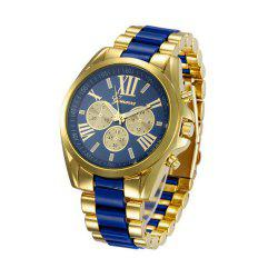 geneva Fashion Trendy Stainless Steel Band Men Watch -