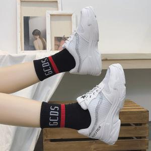 Lace Up Breathable Platform Sneakers -