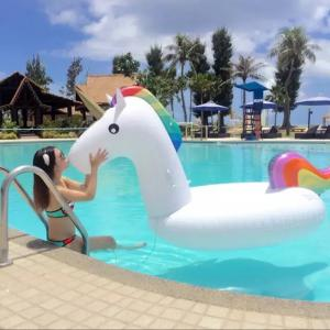 Giant Unicorn Inflatable Patch Swimming Pool Toy -