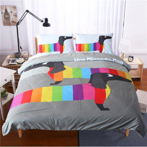 Trendy Dachshund Sausage Bedding 3pcs Duvet Cover Set Digital Print