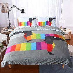 Dachshund Sausage Bedding 3pcs Duvet Cover Set Digital Print -