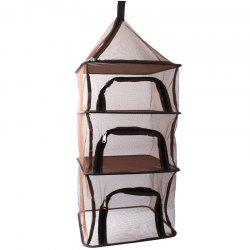 Camping Portable Folding 4 Layer Hanging Food Outdoor BBQ Rack Shelf Storage -