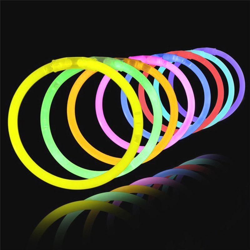 Store 8 Color Light in Night Glow Sticks Kids Birthday Bracelets Party Concert 100PCS
