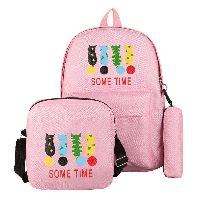 Discount Cartoon Pattern Double Shoulder Bag Middle School Schoolbag
