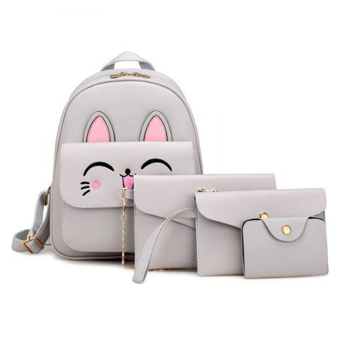Online Cute Rabbit Pattern PU Backpack Bag Suit
