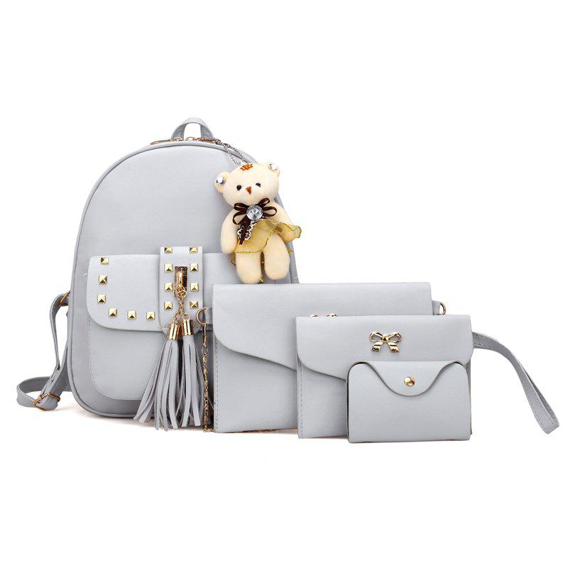 Outfit Rivet PU Backpack Travelling Bag