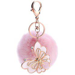 Creative Girl Animal Rabbit Plush Ball Car Pendant -